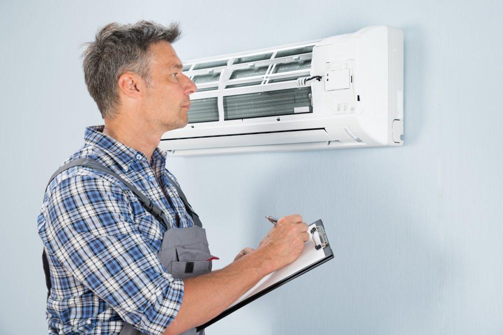 inspecting the HVAC